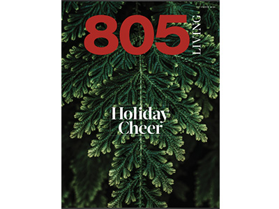 Cover of the December issue of 805 Magazine